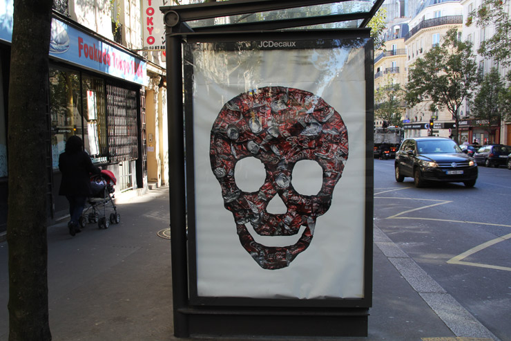 Icy & Sot. Ad take over in Paris, France. 2014 (photo © Icy & Sot)